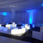 Lighted furniture for hire