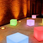 lighted cube hire