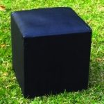 Black Ottoman Cube